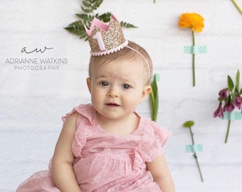 1st Birthday Crown | First Birthday Outfit Girl | First Birthday Crown | 1st Birthday Girl Outfit | 1st Birthday Crown | Girl Birthday Crown