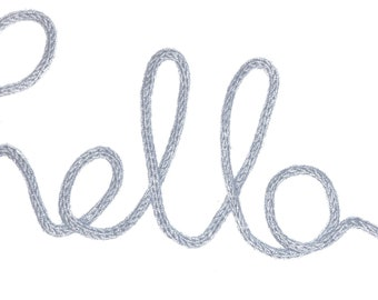 Handmade Knitted Wire Word | Hello | New Baby | Gift | Personalised