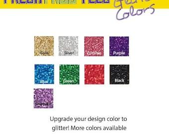 Upgrade my design color to glitter!