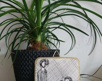 Coaster Art, drawing, fineliner, gold lining, figurative art, drawing art, modern art, contemporary art