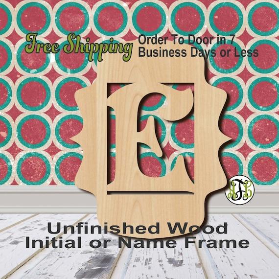 Framed letters names annelaynetoo unfinished wood framed letter name word monogram custom laser cut wood spiritdancerdesigns Images