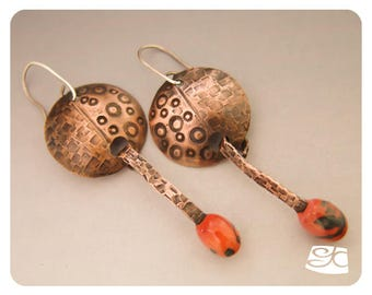 Large Forged Head Pin and Domed Earrings DIY PDF Tutorial
