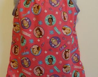 Disney Princesses Circle Toss, Girls Pillowcase Dress, Made to Order Size 6m thru 24m and Size 2-8, Tiana, Belle, Cinderella, Rapunzel