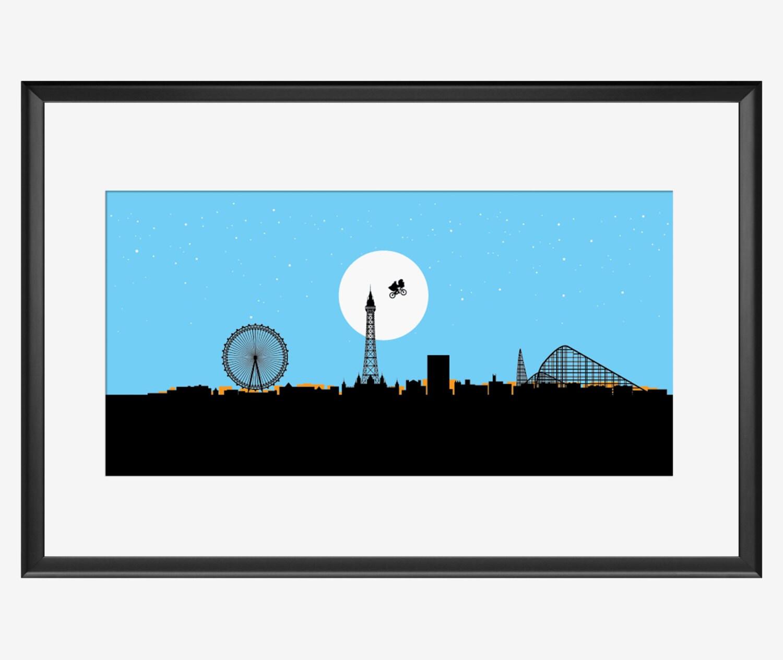 Blackpool skyline print blackpool art blackpool print zoom jeuxipadfo Choice Image