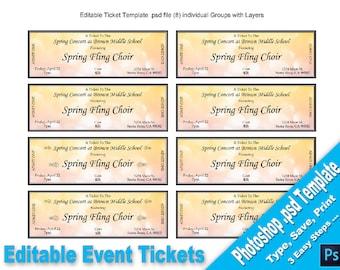 raffle ticket template etsy