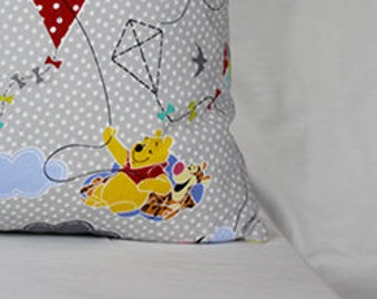 Pillowcase made with Winnie the Pooh fabric - fits 13 x 18 Travel or Toddler Pillow