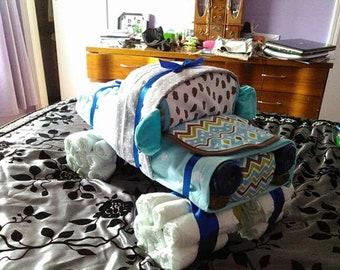 Diaper truck Cake, baby shower, new baby