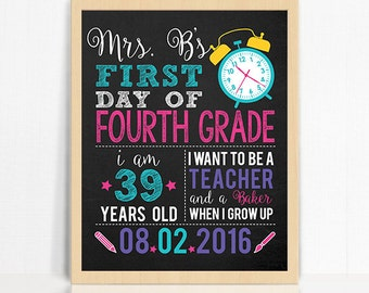 First Day of School Printable Teacher Sign - Printable Teacher's First Day of School Sign - Teacher Printable - 30% OFF With Instagram Code