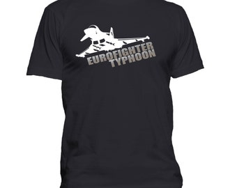 Eurofighter Typhoon. RAF. Mens Funny T-shirt. Premium quality. Ringspun soft.