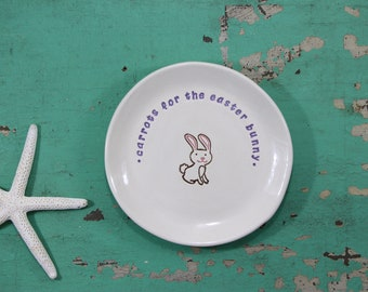 Personalized Carrots for Easter Bunny Plate, Custom Easter Bunny Dish, Personalized Easter Bunny Dish