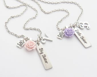 BIG SISTER NECKLACE-New Big Sister Gift-Personalized Big Sister Bar Necklace-New Sibling GIft-Future Big Sister Gift-Big Sister Bar Jewelry-