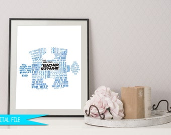 Autism Thank You Gift, Teacher Gifts, Teacher Appreciation Gift, Puzzle Piece Gift, Autism Symbol, Autism Teacher Gift, Puzzle Piece Gift