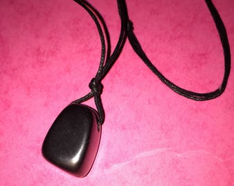 Hematite crystal necklace
