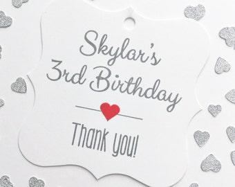 Birthday Favor Tags, Custom Birthday Favor Tags, Custom Hang Tags  (FS-038)