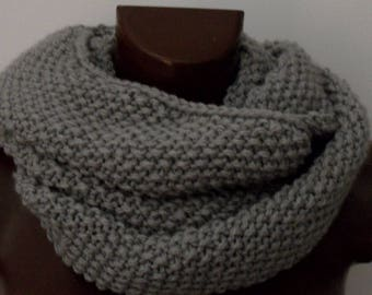Neck Grey Pearl unisex, for men and women, ring scarf