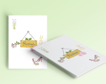 "greeting card ""Spring"" + envelope"
