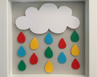 Bright 3D Rain Cloud Wall Art