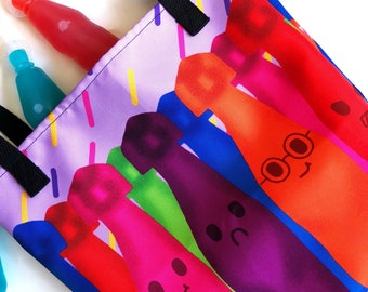 Squeeze-it Juice Friends-90s nostalgia-tote bag-squeez-its inspired bottles
