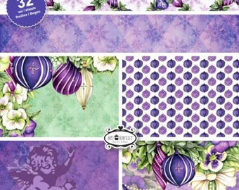 two pockets 15.2 32 papers x 15.2 cm CRAFT EMOTIONS PURPLE HOLIDAYS