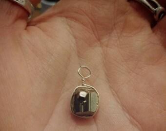 Pyrite cube pendant