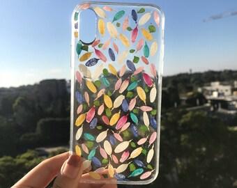 Handmade phone case/ pressed flower phone case/ preserved flower phone case/ dried flower phone case/ iphone cases/ iphone 6, 6s/ Iphone X