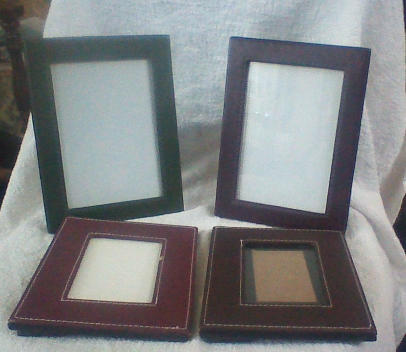 Vintage Group of Four Small Milano Leather Frames from ...