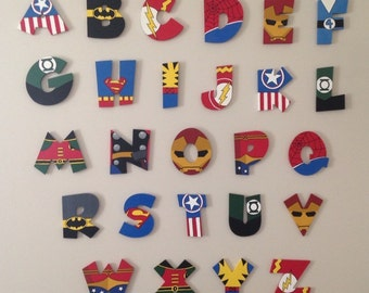 Super hero themed letters