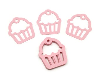 Cupcake Die Cuts, Cupcake Punches, Pink Cupcakes, Birthday Party, Gift Tags, Embellishments, Set of 24
