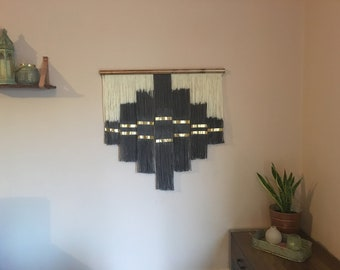 Aztec Design Dip Dye Wallhanging