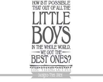 How Is It Possible Best Boys Vinyl Wall Family Decor Decal Sticker