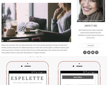 Blogger Template Responsive, Blogger Theme, Minimal, Slider, Simple, Photography, Template for Blogger, Premade, Blogspot - Espelette