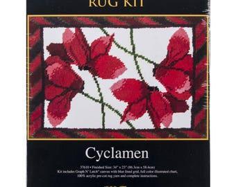 Cyclamen Latch Hook Kit (Pre-Order)