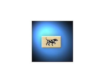 Bird Dog pointing, mounted rubber stamp, Hunting, pointer, spaniel, Sweet Grass Stamps No.14