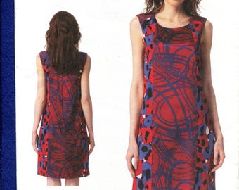 Vogue 1349 Donna Karan Princess Seam Shift Dress Pattern Size 16 to 22 UNCUT
