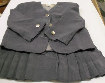 Adorable 1940's  Jack and Jill Togs Little Girls 2 Piece Jacket and Skirt