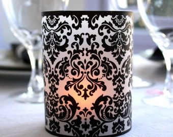 Printable Bold Damask Luminaries