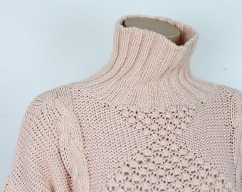 80s OVERSIZED PEACH SWEATER size large