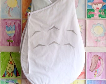 totoro sleeping bag, kimono sleeping sack, new baby coming home, baby shower gifts, baby gift ready to ship, made in spain ready to ship