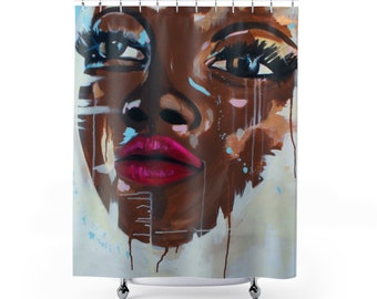 """Beauty, Unfinished"""" Shower Curtain"""