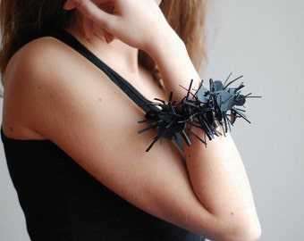 Black Rubber Bracelet, Contemporary Jewelry