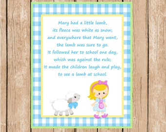 Mary Had a Little Lamb Instant Download