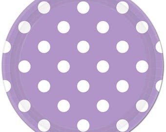 8 Ct Strong 9 Inch disposable Lavender Polka Dot Paper Plates - Dinner - Luncheon Size Plates - Shower - Party - All Occasion  sc 1 st  Etsy Studio & Lavender Polka Dot | Etsy Studio