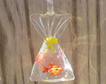 Tropical Fish in a Bag Necklace by Wave of Life