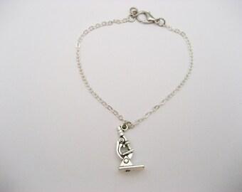 Microscope Bracelet, Microscope Jewelry, Biology Bracelet, Chemistry, Sience Bracelet, Science Jewelry, STEM Bracelet, STEM Jewelry