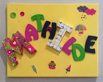 Frame for baby and kids room decoration