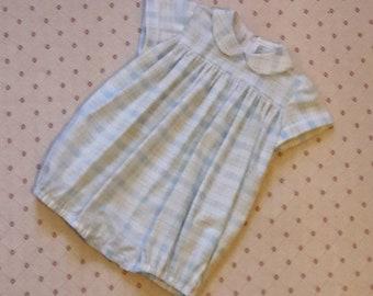 Vintage Style babies bubble romper suit