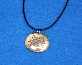 Sterling Silver Cat Pendant #1