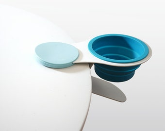 Clip On Table Cup Holder for Office Workspace Kids Cafe Home
