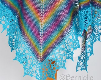 PAULA, Knit & crochet shawl pattern pdf