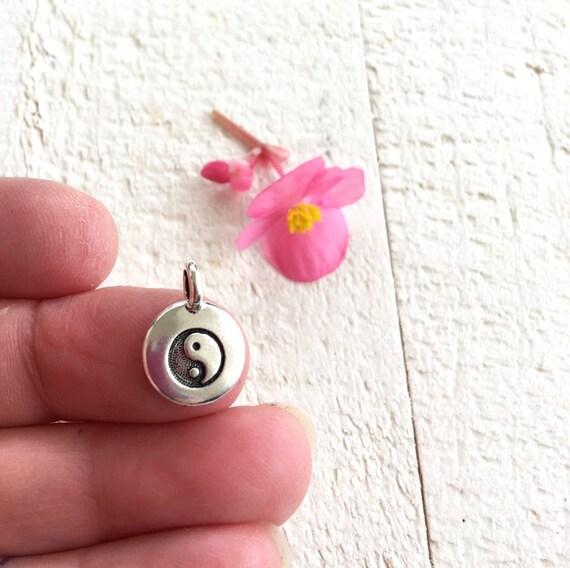 Yin Yang Charm, Yin Yang Symbol, Yoga Charm, Tassel Jewelry Charm, Yoga Jewelry Pendant, Mala Bead Charm, Customize Your Mala Beads